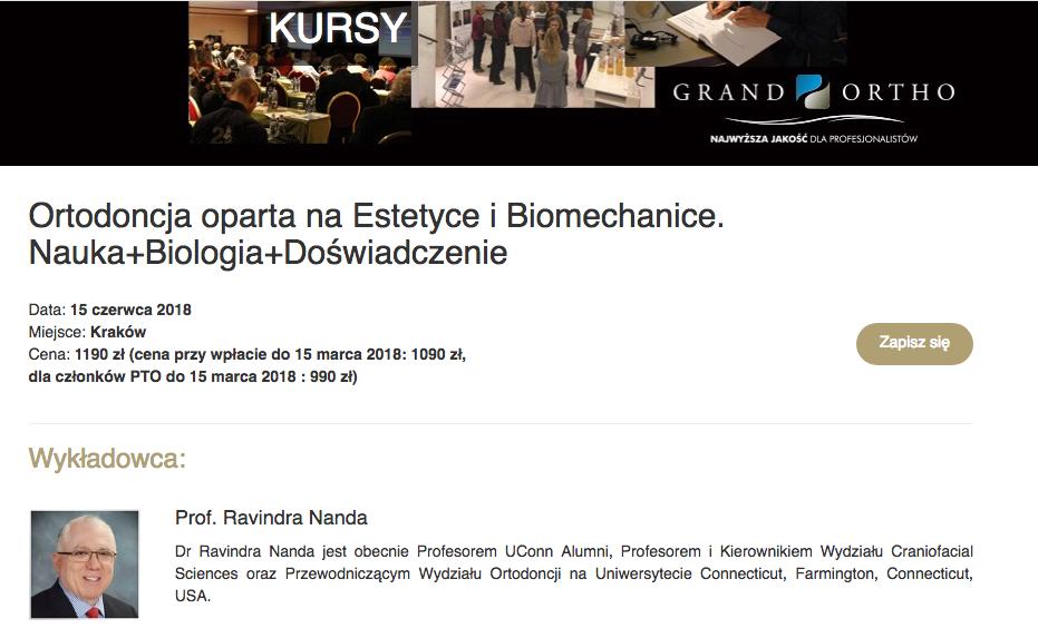 Ravindra Nanda – Foremost speaker in Contemporary Orthodontics | Poland